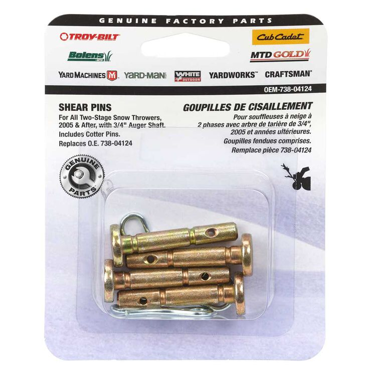 """Shear Pin Kit, .25 x 1.5"""""""
