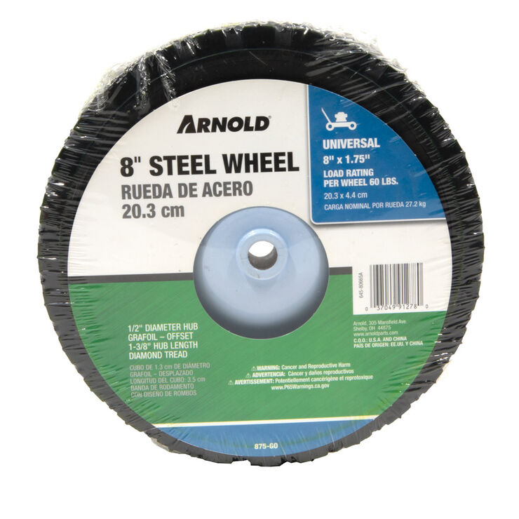 8 x 1.75 Steel-60# Load Rating