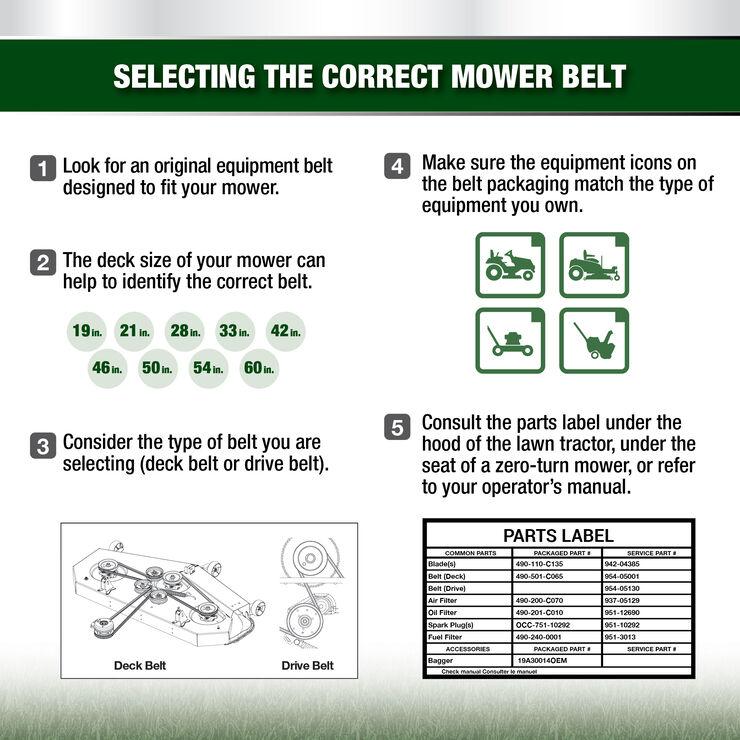 Riding Mower Hydrostatic Transmission Belt