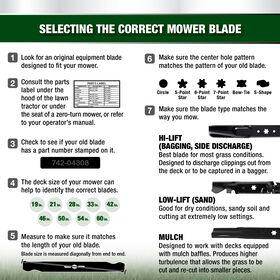 Premium 2-in-1 Blade for 42-inch Cutting Decks