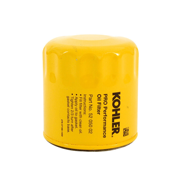 Kohler Part Number 52-050-02-S  Oil Filter (Short) - Yellow