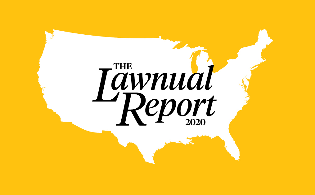 map of US, lawnual report