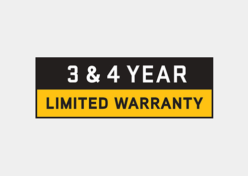 3 and 4 year warranty badge