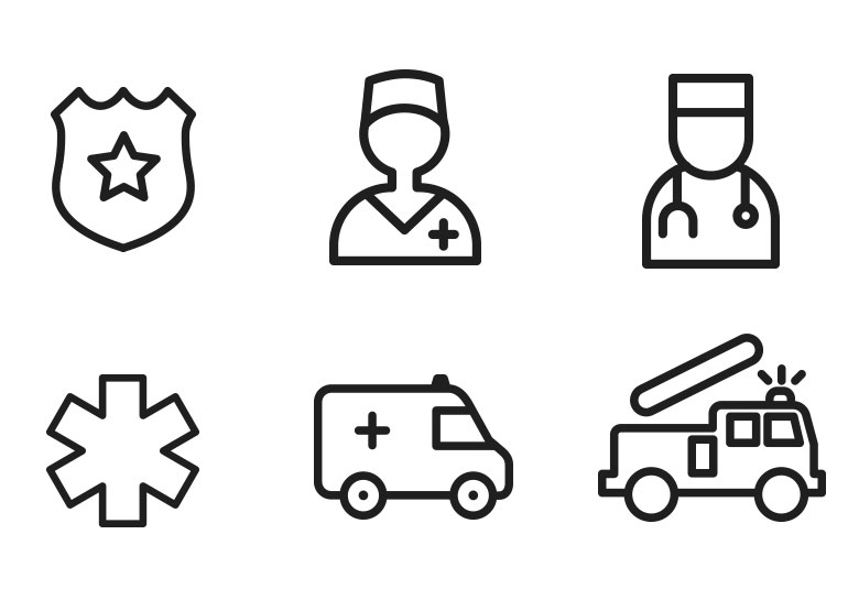 first responder icons