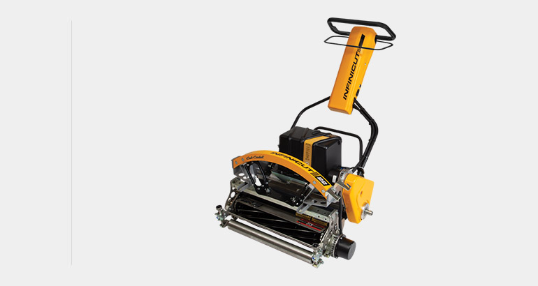 Infiniset professional walk behind mower for customized turn care