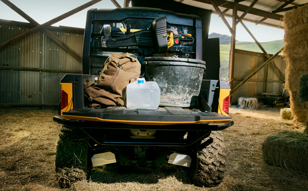 Cub Cadet UTV with full cargo