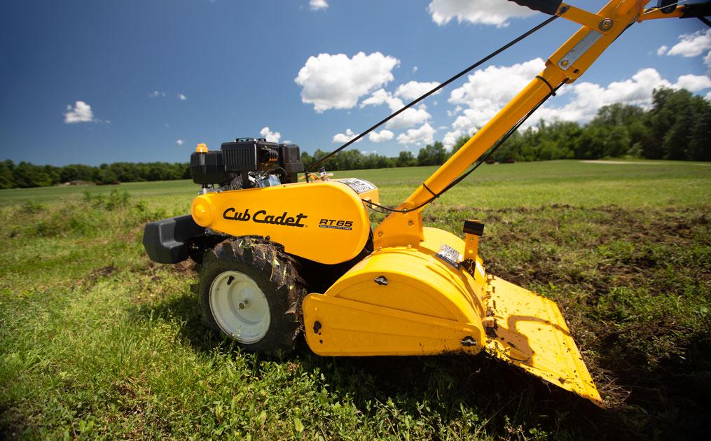 Cub Cadet TR 65 Garden Tiller in a field