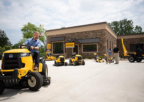 riding mowers at a Cub Cadet dealer