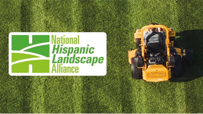 zero-turn mower and NHLA logo