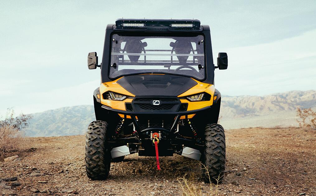 UTV driving in the dirt