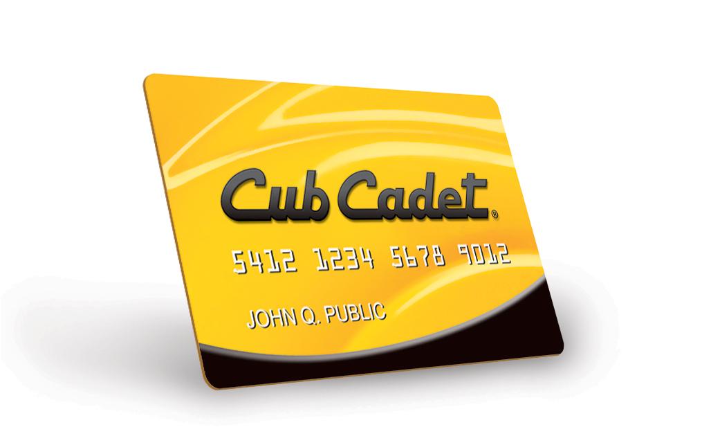 cub cadet credit card